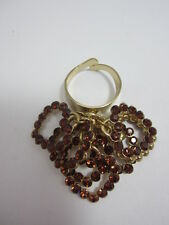 Gold Multi Heart Ring Adjustable