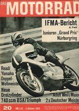 M6820 + BSA Rocket 3 + Triumph Trident + Brüder Villa + Das MOTORRAD 20/1968
