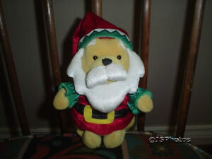 Winnie The Pooh Santa  Bear Doll Walt Disney Exclusive