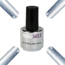 UV Polish Soak Off Gel Nail Art Nagellack Farbe # Silver Moon