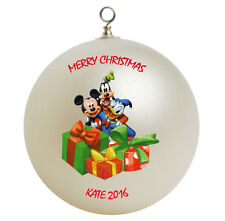 Personalized Mickey Mouse Donald Duck & Goofy Christmas Ornament Gift Add Name