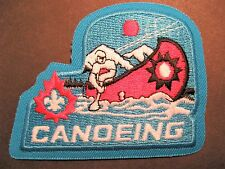 BOY SCOUTS CANADA CANOEING EMBROIDERED PATCH CUBS VENTURERS BEAVERS