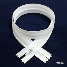 "144 pcs Quality BKC Invisible Zipper Top Open Bottom Closed 24"" White #501"