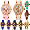 NY London Jewelled Ladies Girls Rose Gold Neon Coloured Crystal Bracelet Watch
