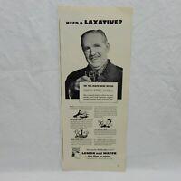 CALIFORNIA SUNKIST (NEED A LAXATIVE ?) VINTAGE 1943 ADVERTISING MAGAZINE PAGE