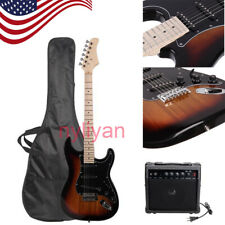 Us Basswood Electric Guitar with 6 Strings and Guitar Amplifier Bag Accessory