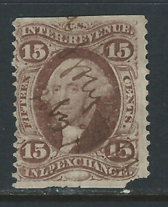 R40b, 15 cent Inland Exchange Part Perf.