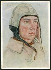 Artist Signed WOLFGANG WILLRICH  04  GERMANY  THIRD REICH  MILITARY  Postcard