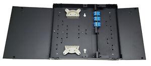 12 Fiber Dual Door Wall Mount w/ 6 SC/UPC Duplex Adapters, Patch Only Singlemode