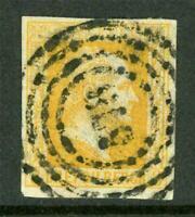 Germany 1857 Prussia 3sgr Orange SG #13 VFU G236 ⭐⭐⭐⭐⭐