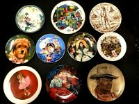(PICK) Porcelain Plates 1980s (Sesame St Gone Wind Shirley Temple China Gold)