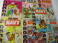Sad Sack Vintage Comic Book Lot Humor Army GI Navy Sarge USA Classic Harvey '70s