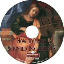 How To Make Stringed Instruments { Violin Guitar Plans } on DVD
