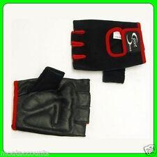 Sport Direct Small Black & Red Track Mitt Fingerless Gloves [SHS625KS]