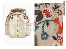 BNWT NEXT Oatmeal Embroidered Hooded Jacket. AGE  3/4 YEARS.