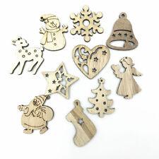 50pcs Wooden Christmas craft Natural wood Angel/snow/star Pendant Scrapbooking