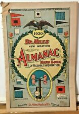 1930 Dr. Miles Almanac And Hand Book