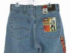 NWT LEE Light Stone Relaxed Fit Slightly Tapered Leg Denim Blue Jeans 34 X 30