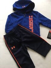 Under Armour Baby Boy Track Suit Jacket Pants Size 3-6 Months Royal Navy Blue