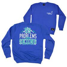 Fb Skiing Snowboarding Sweatshirt - Ski 99 Problems - Novelty Sweater Jumper