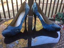 "Christian Siriano Sz 9.5 Blue Coast Tie-Dye 4.5"" Heel Shoe"