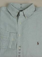 Ralph Lauren Polo Pony Classic Fit Oxford Long Slv Pinstripe Striped Dress Shirt