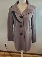 Urban Outfitters Lux Size Medium Women's Wool Pea Coat Gray Black Button Jacket