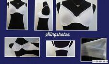 """36B"" *Liz Claiborne 4512* White Unlined Lace Trim UW Cotton Full Coverage Bra"