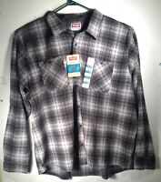 NWT Wrangler Men's Long Sleeve Heavy Duty Flannel Shirt Plaid Button size 3XL