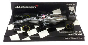 Minichamps McLaren MP4-29 Chinese GP 2014 - Jenson Button 1/43 Scale