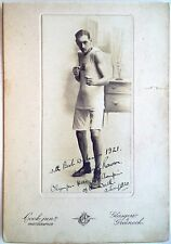RONALD RAWSON 1920 HEAVYWEIGHT BOXING OLYMPIC GOLD MEDAL RARE SIGNED PHOTOGRAPH