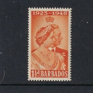 Barbados - 1948 - SG 265 - Silver Wedding - 1 1/2d Orange - MLH 2016