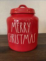 New Rae Dunn Red MERRY CHRISTMAS Christmas  Canister