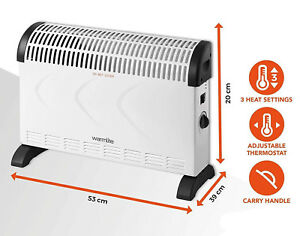 Warmlite WL41001 Convection Heater Compact Portable Electric Heater 2000W 3 Sett