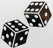 DADI d'azzardo gioco d'azzardo rischio per le automobili divertenti adesivi Van Paraurti Decalcomania 5336 Nero