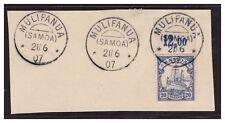 Samoa ° Mulifanua  21.6.07  3 x auf Luxus Briefstück Minr. 10