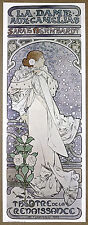 Mucha La Dame Aux Camelias Sarah Barnhardt Vintage Lithograph