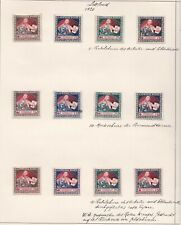 1918/1940 LETTONIA ,LETTLAND/LETTONIE, collection on 17 sheets  MLH/* (FEW US...