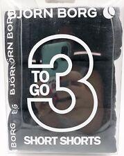 Bjorn Borg Mens 3 To Go Short Shorts Boxer Briefs Underwear Black Size XXL New