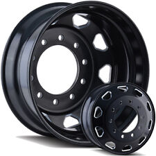 "24.5"" Black and Milled Semi Dually Wheels Free Shipping Ford Dodge GMC and Chevy"