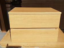 2 Drawer Wall Mounted Vanity Unit - Santana Oak - 640mm w x 400mm h x 460mm d