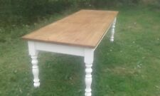 rustic pine farmhouse table 8 foot by 3 foot 10 seater