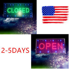"Store Shop Scissors LED 2 in 1 Open & Close LED Business Sign Neon 9.8*20.47"" a+"