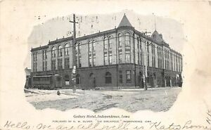 H68/ Independence Iowa Postcard c1907 Gedney Hotel Building  8