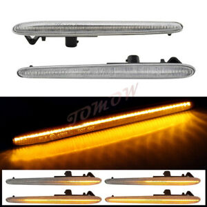 Clear LED Sequential Side Marker Light Indicator For Alfa Romeo Giulietta 10-21