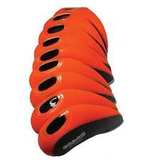 Golf Club Iron Covers Headcover Head Neoprene Cover Set of 9 Orange Korean Golf