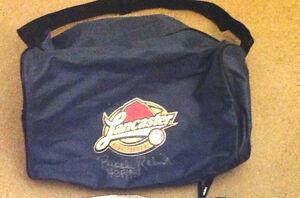 Orioles Brooks Robinson Lancaster Barnstormers Autograph duffel Bag Auto
