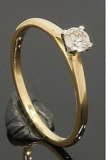 18 Carat Yellow Gold Diamond Solitaire Ring 0.16ct Size N 18CT (01.21.054)