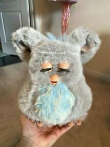 Hasbro 2005  Furby GREY PINK With Blue Eyes For Parts Or Repair Only