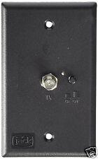 King Controls Black Antenna Power Injector Switch Wall Plate PB1001 RV Coax